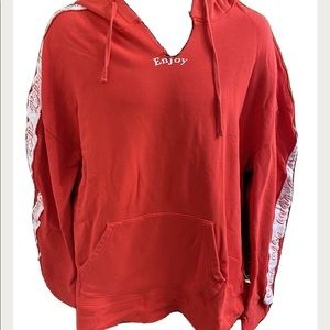 Coca Cola x Pacsun Mens XL Red Pullover Hoodie